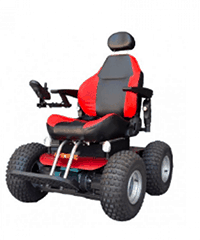 Red power chair